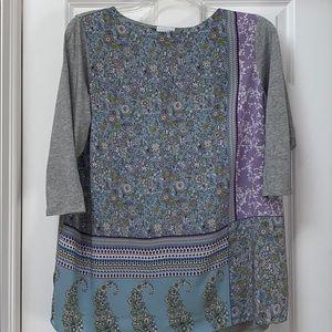 J Jill print tunic size 1X
